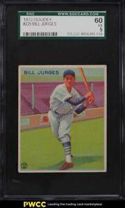 1933 Goudey Bill Jurges #225 SGC 5 EX