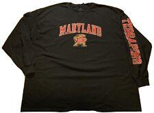 University Of Maryland T-Shirt Terrapins Long Sleeve Fanatics New Size 4XL Nwt