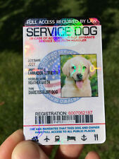 PROFESSIONAL HD PRINTED SERVICE DOG ID CARD CUSTOMIZE  ANIMAL BADGE TAG