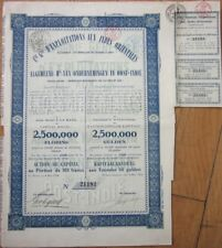 1914 Bond Certificate: 'Exploitations aux Indes Orientales' - Gravenhage / Java