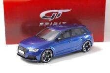 1:18 GT Spirit audi rs3 Sport back Quattro Blue 2015 New en Premium-modelcars