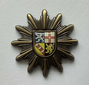 Polizei Dienst Mützen Stern Saarland, alte Uniform, Zustand sehr gut