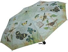 Coynes Vintage Mint Butterfly Automatic Open Close Folding Umbrella