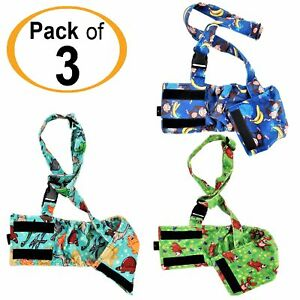 PACK of 3 Dog BELLY BAND Wrap Diapers Male Washable SOFT Fleece SUSPENDERS XS- L