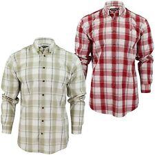 Farah Men's Long Sleeve Check Casual Shirts & Tops