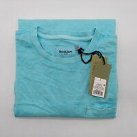 Goodfellow & Co Long Sleeve Crew Neck Pocket T-Shirt, Teal, Men's Large, NWT