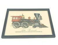 Evelyn Curro Vintage Hand Color Print Locomotive Engine 'The General' Framed