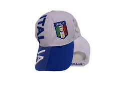 Italy Italian Italia Country Letter Flag Blue/White Hat Cap 3D embroidered (RUF)