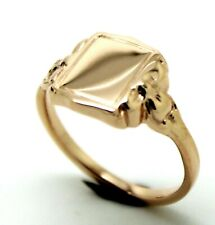 Kaedesigns New Genuine  9ct 9kt GENUINE SOLID ROSE GOLD / 375, SIGNET RING