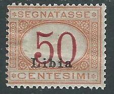 1915 LIBIA SEGNATASSE 50 CENT MH * - I45-8