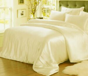 5pc 22mm 100% Silk Duvet Cover Fitted/Bottom Flat/Top Sheets Pillowcases Set