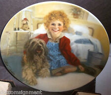 """Knowles Collector Plate Orphan Annie """"ANNIE & SANDY"""" with Box & COA Liimited Ed"""