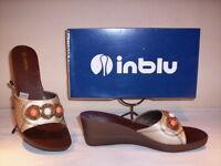 Inblu scarpe sandali casual donna zeppa plateau oro shoes sandals women 38 40