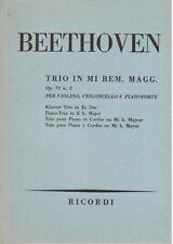 Beethoven:  Trio op.70 n.2 Per Violino, Violoncello e Piano Spartito Tascabile