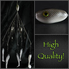 Alabama/Umbrella  Rig  (Bladed Bait Ball) 5 Wire 8 Blades! High Quality