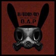 B.A.P-[BADMAN] 3rd Mini Album CD+48p Photo Book+Card+Stencil BAP K-POP Sealed