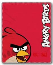 Official Angry Birds Red Fleece Blanket Bed Throw