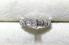 Nice Platinum Engagement Diamond Ring (TW-1.0ct)
