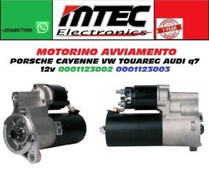Starter Motor Porsche Cayenne VW Touareg Audi Q7 12V 0001123002 0001123003