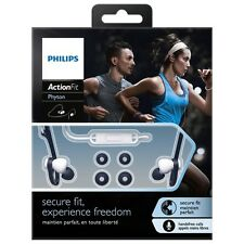 Philips SHQ4305WS ActionFit Sports Headphones with Microphone Black/White