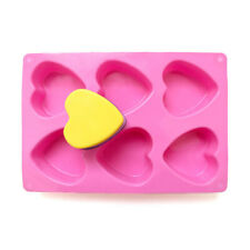 Silicone Soap Mold 6-Cavity Heart Shape Chocolate Mould Handmade Soap Making