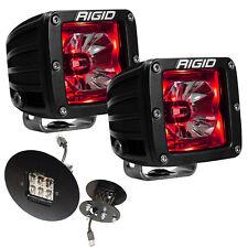 Rigid Radiance LED Fog Light Kit w/ Red Backlight for GMC Sierra 2500HD 3500HD