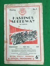 More details for speedway programme hastings v liverpool 25th may 1949