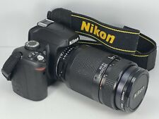 Nikon D60 Slr Digital Camera, Pentax Flash, 70-210mm, 1:4-5.6, Af Nikkor.
