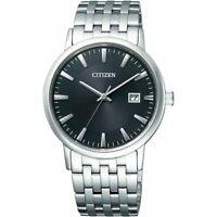 Citizen Eco-Drive Men's Black Dial Calendar Bracelet 37mm Watch BM6770-51G
