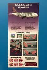 FRONTIER AIRLINES SAFETY CARD--AIRBUS 320-- 2010 REV