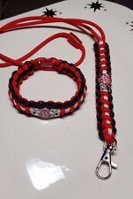 St. Louis Cardinals STL Logo Handmade Paracord Bracelet & Paracord Lanyard Set