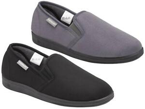Mens Dunlop Slippers Suede Effect Soft Comfy Warm Lining Outdoor Sole UK 6-13