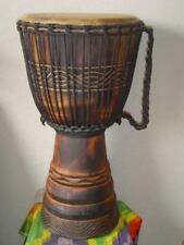 "SALE ! LARGE PRO 26"" Handmade Deep Carved DJEMBE DRUM (M1) + BONUS COVER"