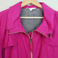 [ W.LANE ] Womens Fuschia Pink  zip Jacket  | Size AU 14