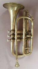 Alte gebrauchte Trompete, Basstrompete ?Ernst David Bielefeld. Pumpventile