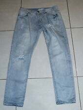 Womens size 10 buttonfly boyfriend style distressed denim jeans by COTTON ON