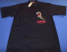 NWT ICEBERG HISTORY TAZ TASMANIAN DEVIL MENS S/S BLACK BUTTON FRONT SHIRT 2XL