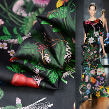 """Flower and snake print pure silk organza silk fabric 15momme 55"""" width,SOZ078"""