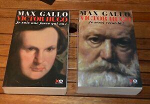 VICTOR HUGO - 2 tomes - Max Gallo