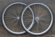 "28"" Prewar Bicycle Cad WHEELS Vintage Schwinn Morrow Hubs Wood Rim Bike w Tires"