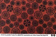 Benatex - Origins By Jennifer Young P797 Reddish Brown - 100% Cotton Fabric