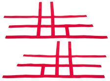 Suzuki LTR 450 LTR450   Nerf Bar Nets  Pair   Fits Alba Tusk    Red  F