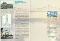 GERMANY 5 APRIL 2001 BRIDGES FIRST DAY PRESENTATION FOLDER