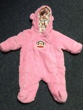 3/6 Months Pink Monkey Snow Suit Small Paul Frank