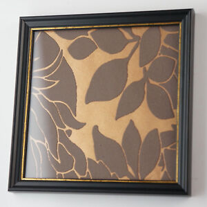 Sonderformat Picture Frame, Wood, Black/Gold, Glass & Back Panel, 17x17 Cm. (2Y)