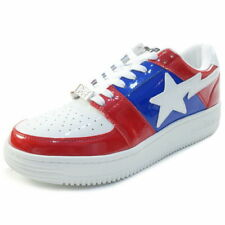 e770682910f2 A BATHING APE BAPESTA enamel sneaker RED US 9.5