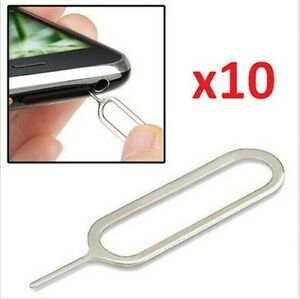 USA! 10x Sim Card Tray Remover Eject Pin Key Universal Tool iPhone X