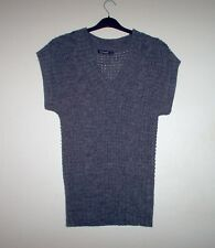Grey Chunky Knit Sleeveless Jumper by Atmosphere - Size 8 - Hardly Worn