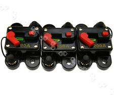 More details for 80/150/200a circuit breaker dual battery manual reset w/proof 12v 24v fuse