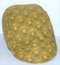 CYCLING CAP SPORTS BICYCLES PUSHBIKES ONE SIZE MUSTARD COTTON UK HANDMADE E612